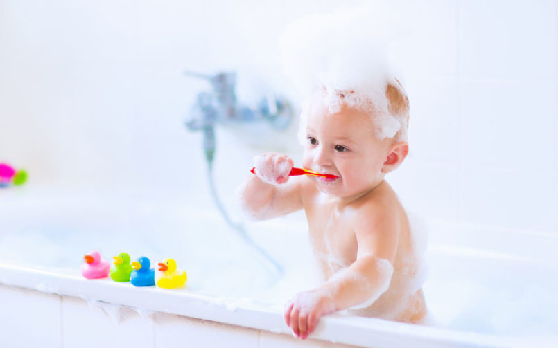 niño, baño, rutinas