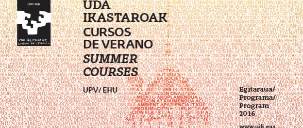XXXV EDICIÓN DE CURSOS DE VERANO DE LA UPV/EHU